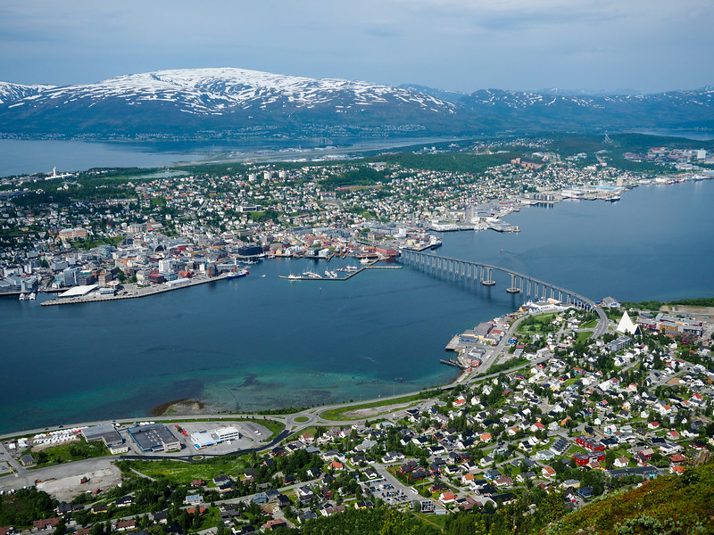 View of Tromsø from Fjellheisen tramway