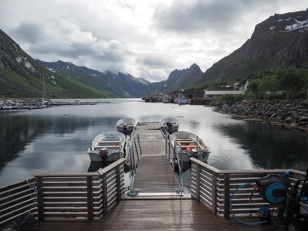 Dock in Gryllefjord, Norway