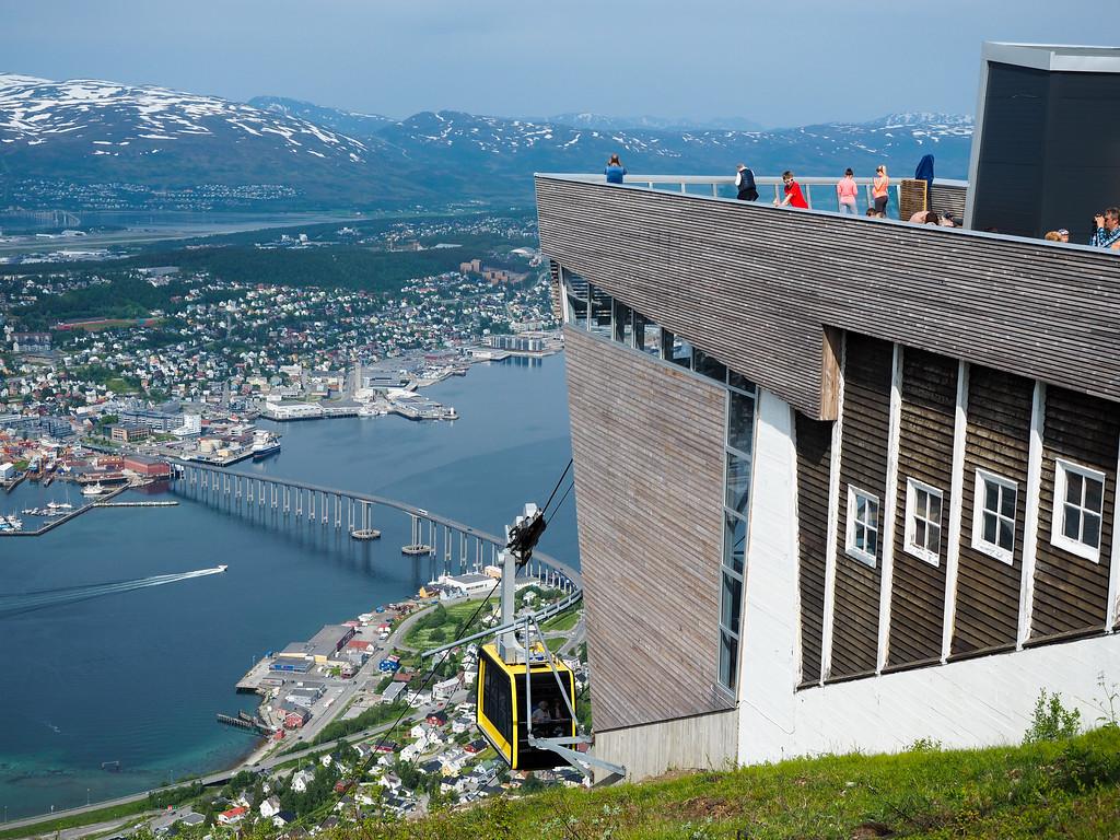 Fjellheisen tramway in Tromsø