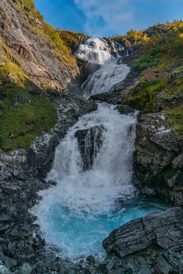 The Kjosfossen Waterfall on our Norway in a Nutshell tour
