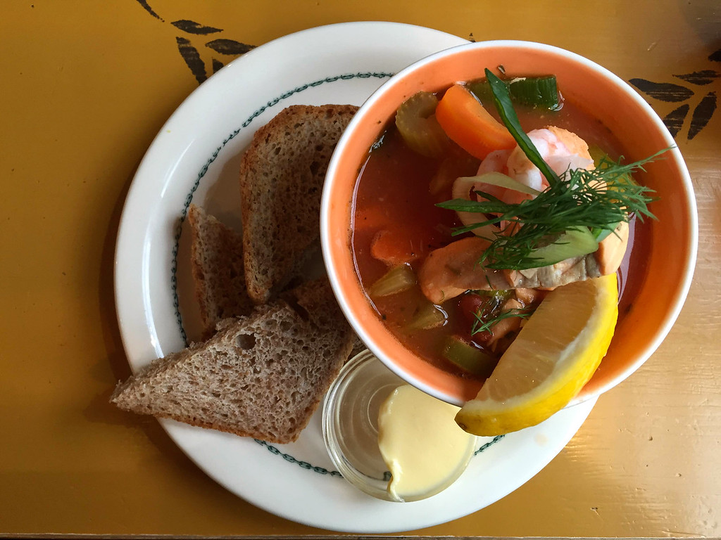 Fish soup in Norway