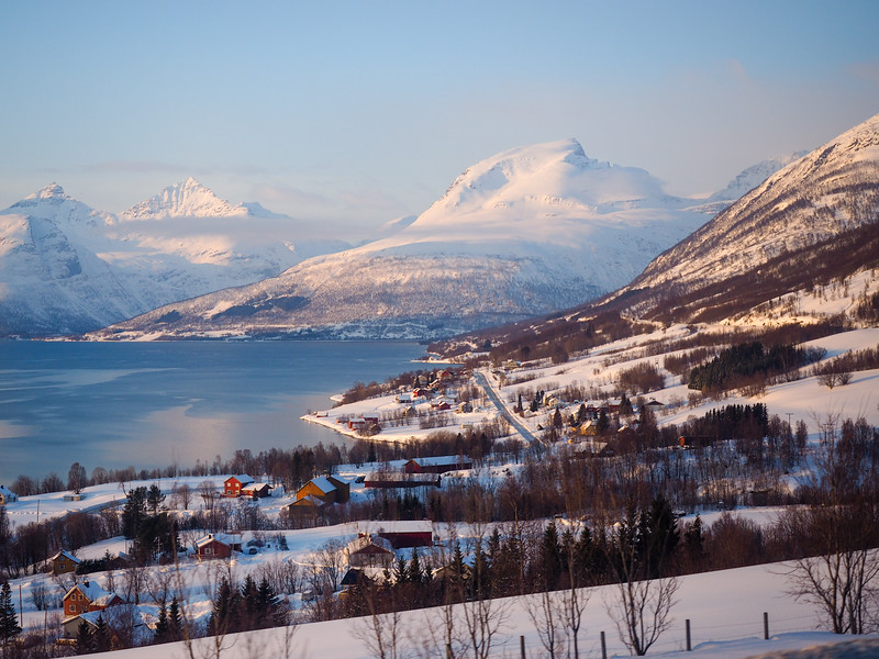 Snowy landscape in Northern Norway