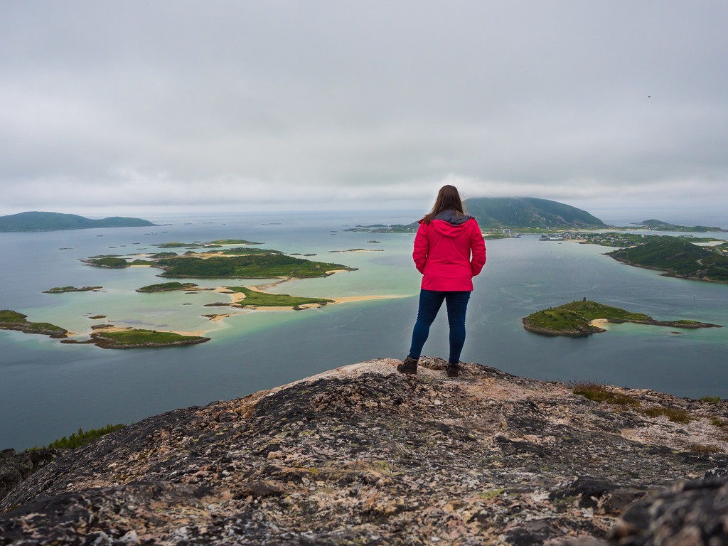 Amanda looking out over Sommarøy in Norway