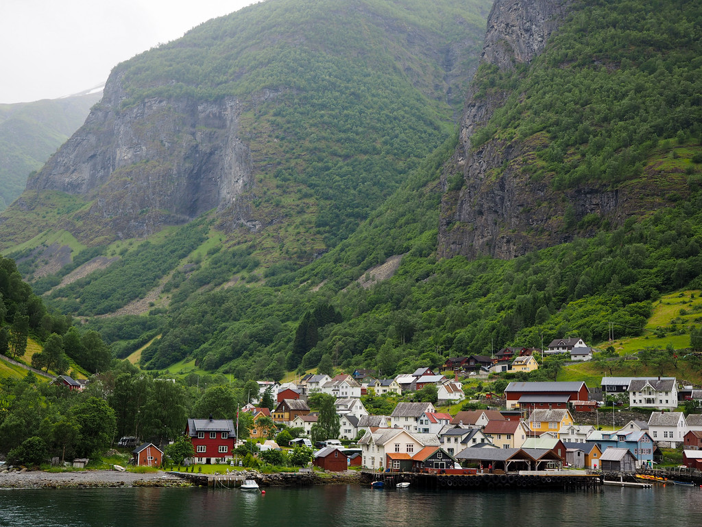 Village of Undredal on the Aurlandsfjord