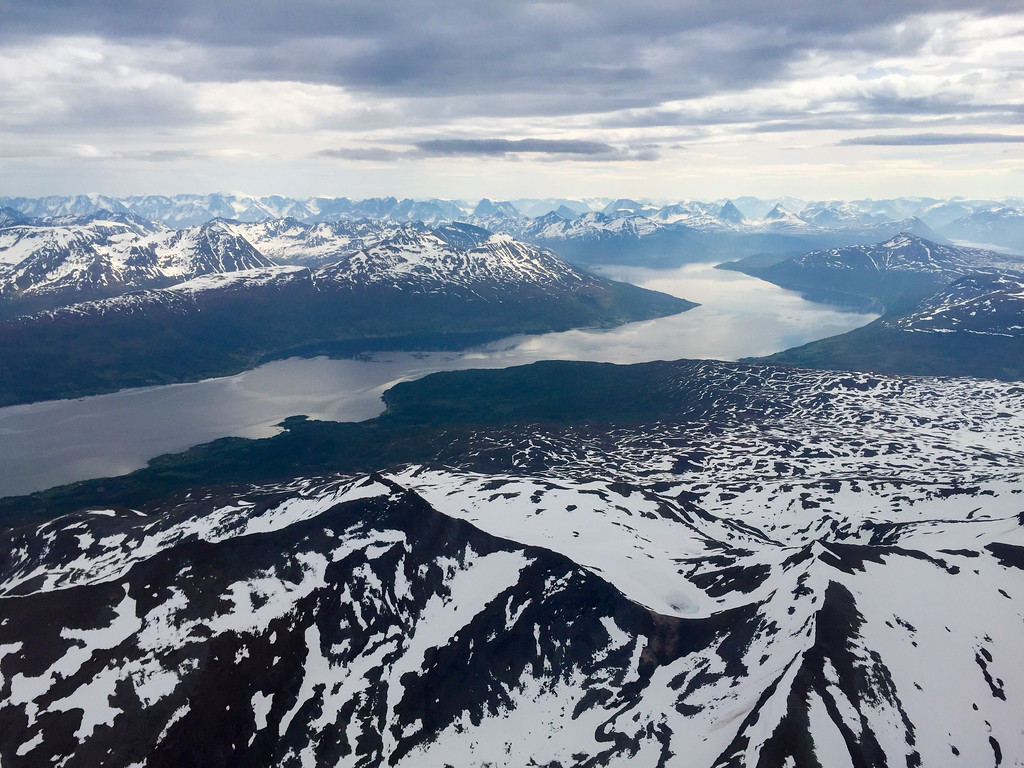 Flying into Tromso, Norway