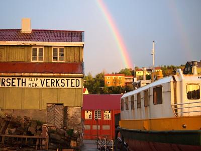Rainbow in Kristiansund, Norway
