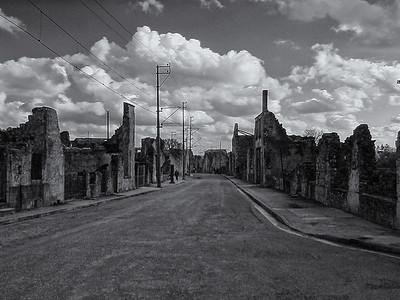 Oradour sur Glane Main Street ruins