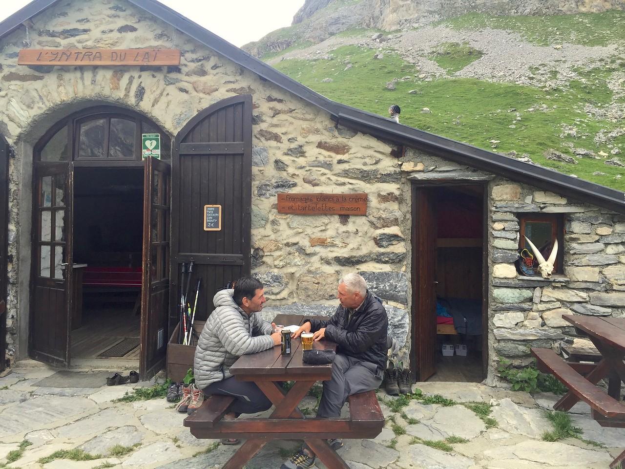 Michel & Doug at Refuge d'Entre-le-Lac