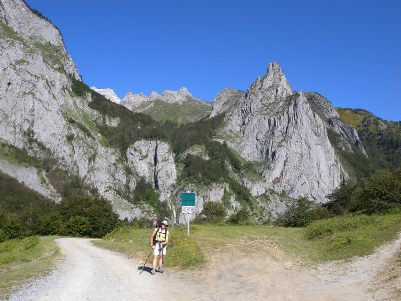 Plateau de Sanchese, looking back from where we've come.
