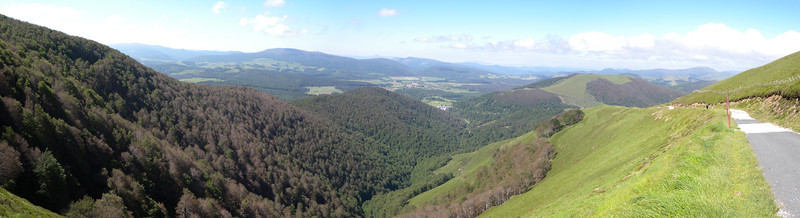 Roncesvalles (valley of brambles) panorama.
