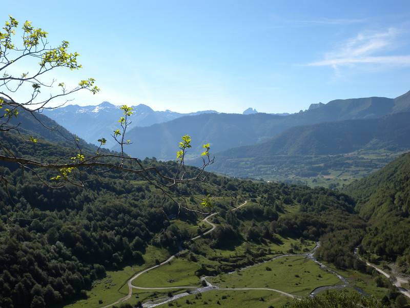 Looking down to Plateau Sanchese at 1090. Only an hour from Lescun, the end of Section 1.