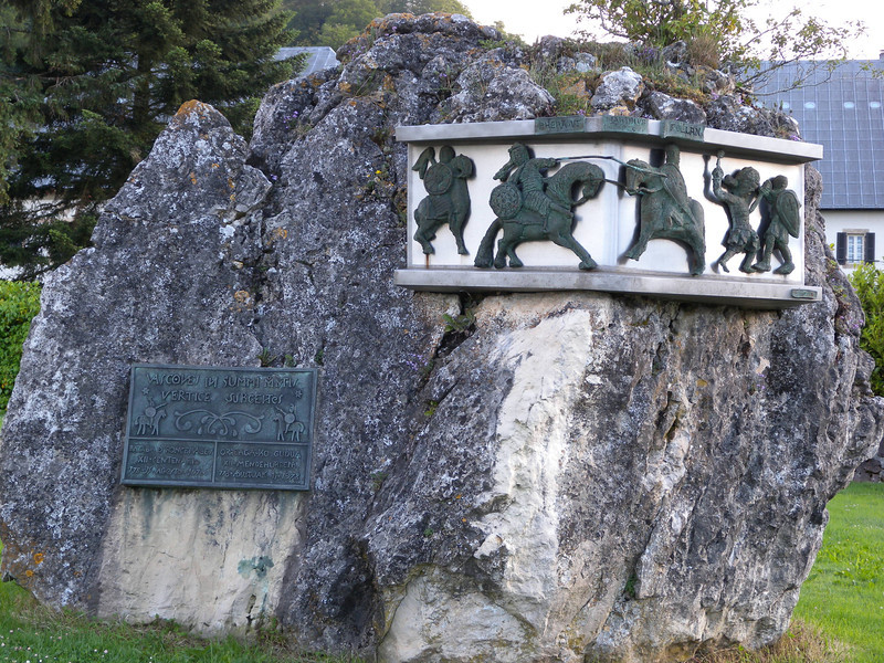 Monument commemorating 12th century battle.