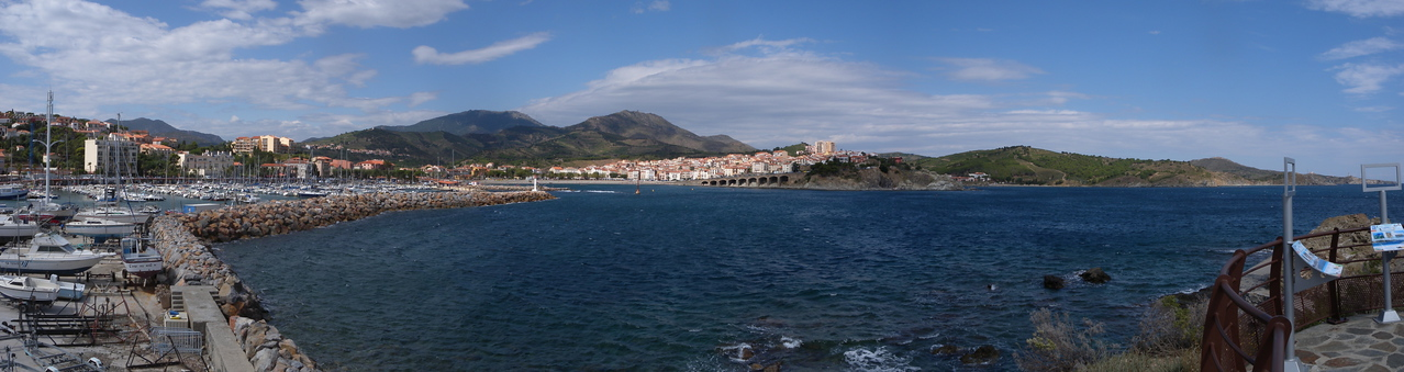Banyuls Sur Mer from the south