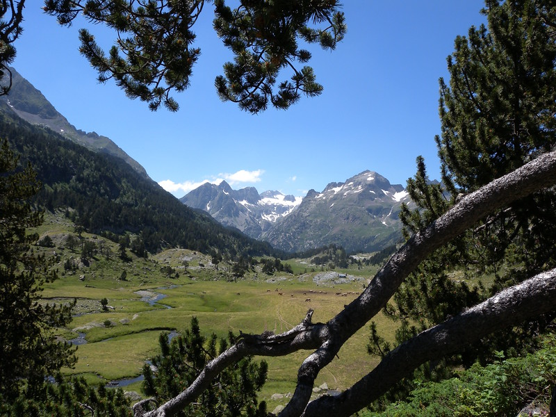 Westwards from near Hospital de Benasque