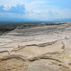 Dry travertine terraces