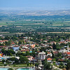 Overlooking the town of Pamukkale