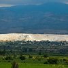 First view of Pamukkale from the train