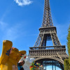 """Buddy Bears"" at the Eiffel Tower"