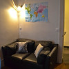 The living room - note the world map, just like home!