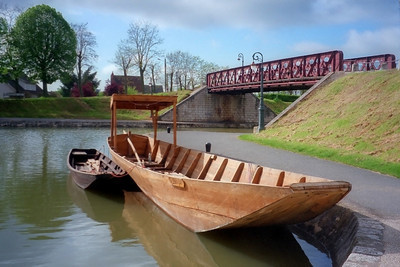 Barge in The Loire Valley of France