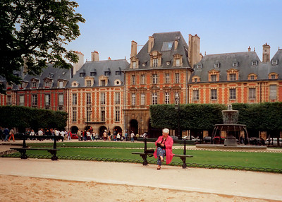 Place Des Vosges in The Marais Section of Paris