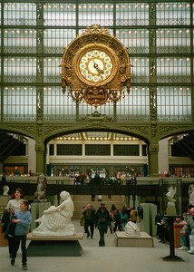 Interior of The D'orsay Art Museum, Paris