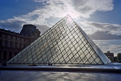 Glass Pyramid Entrance to the Louvre in Paris