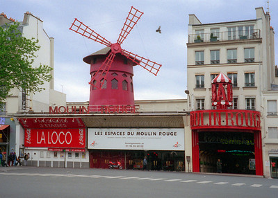 The Moulin Rouge Cabaret, Paris