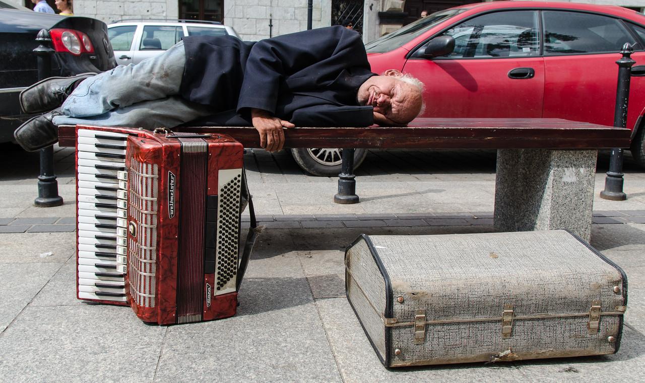 Nap time on Grodzka Street.