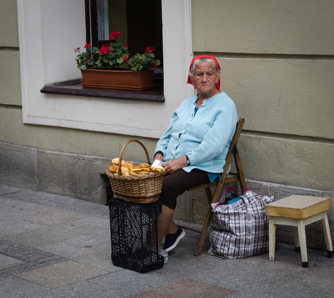 Pastry vendor, Grodzka Street.