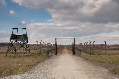 Entrance to Auschwitz Birkenau in Poland