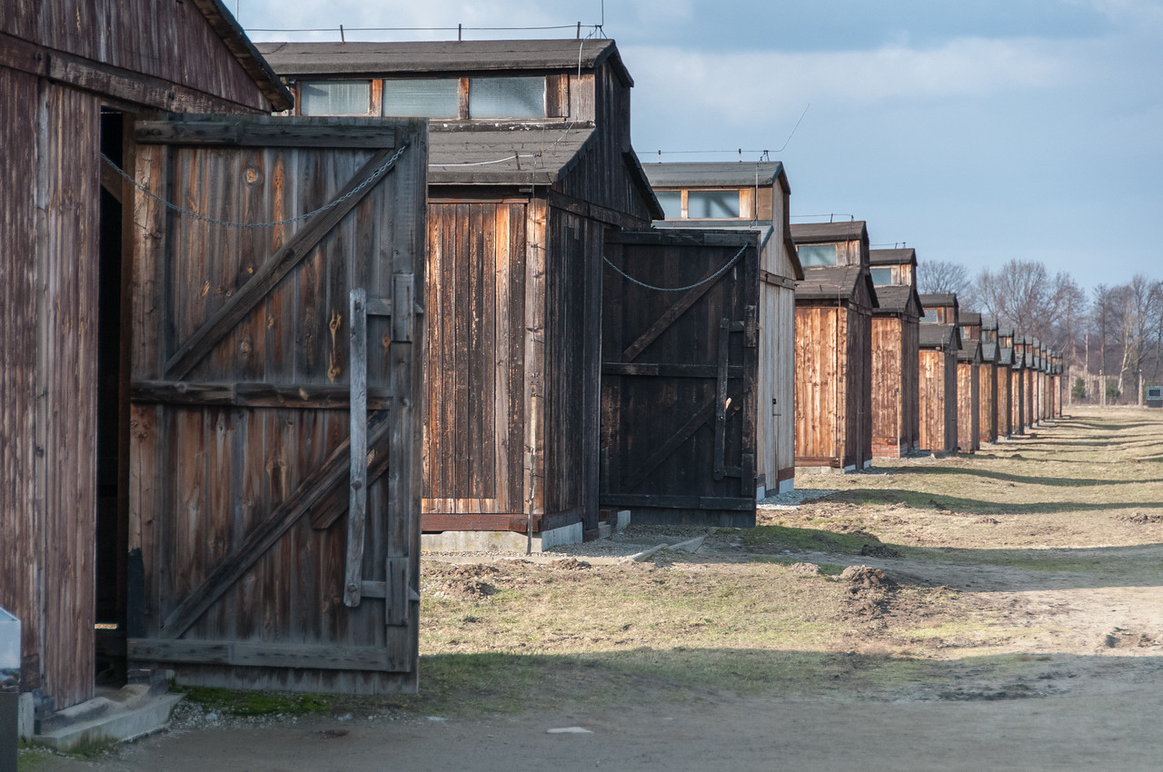 View from the concentration camp at Auschwitz Birkenau - Poland