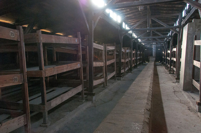 The sleeping quarters at Auschwitz Birkenau concentration camp in Poland