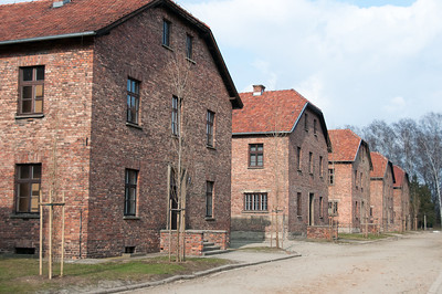 Prisoners barracks in Auschwitz Birkenau in Krakow, Poland