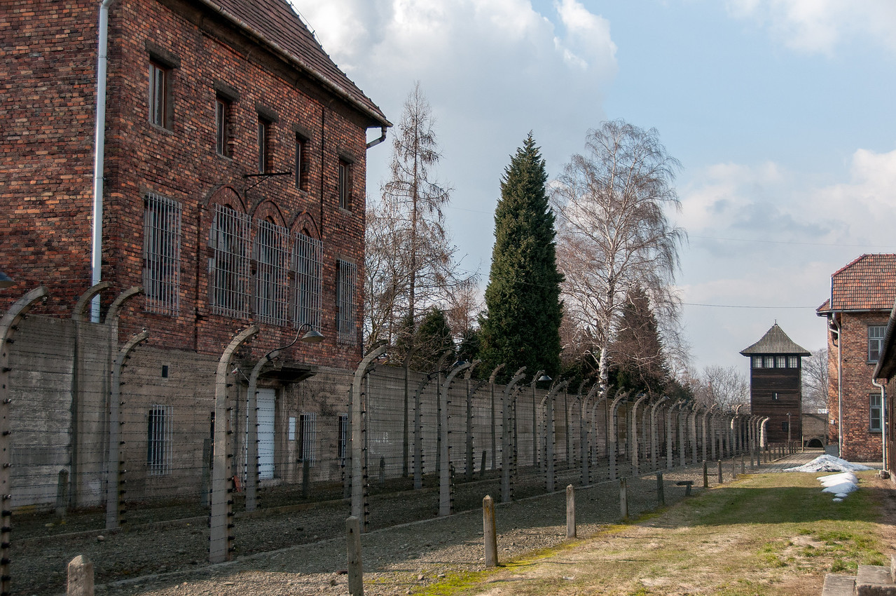 The site of Auschwitz Birkenau concentration camp in Krakow, Poland