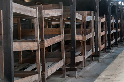 The sleeping quarters at Auschwitz Birkenau in Poland