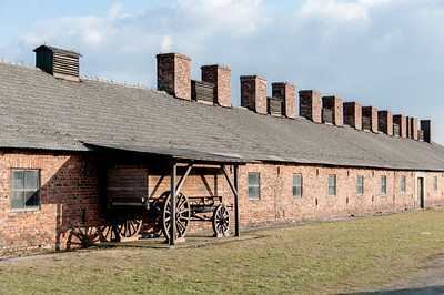 The concentration camp in Auschwitz Birkenau in Poland