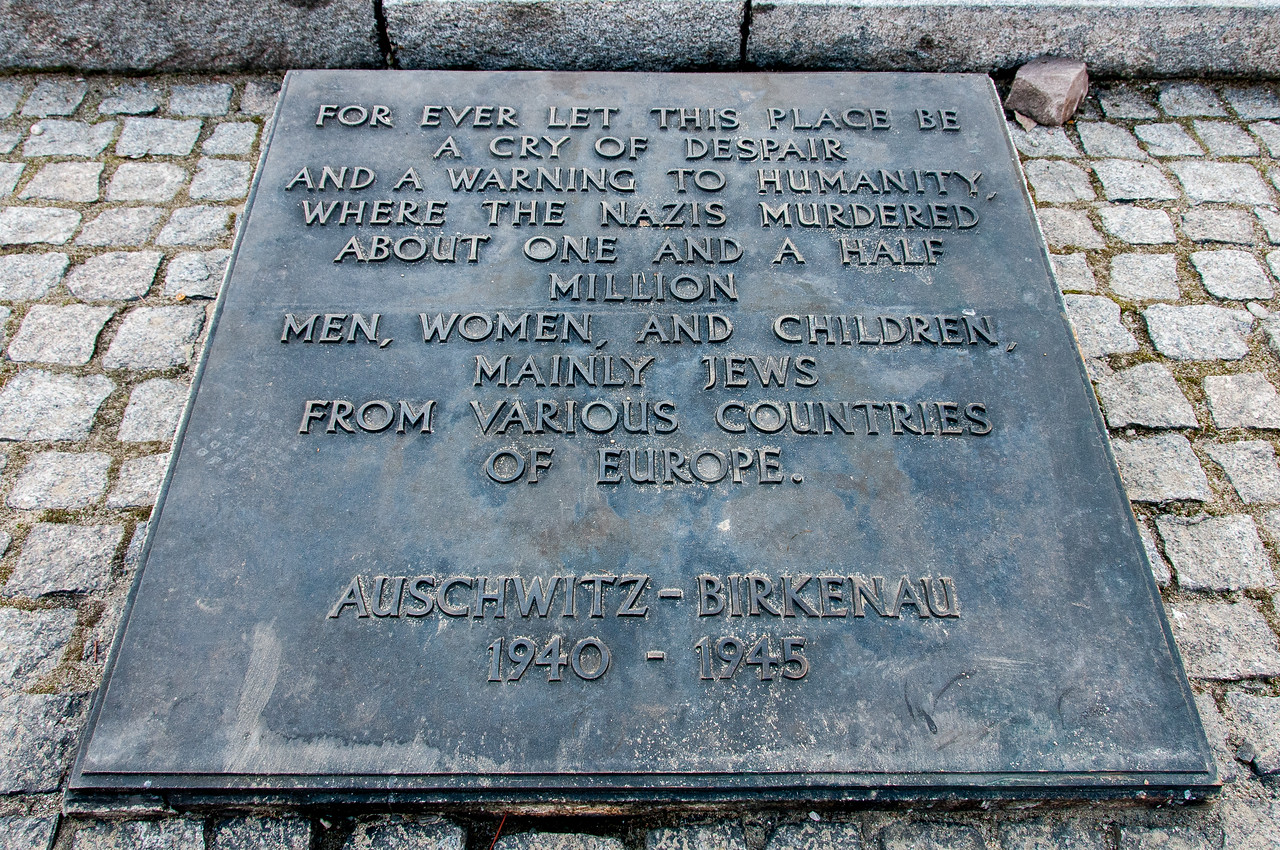 Memorial for victims at Auschwitz Birkenau in Poland