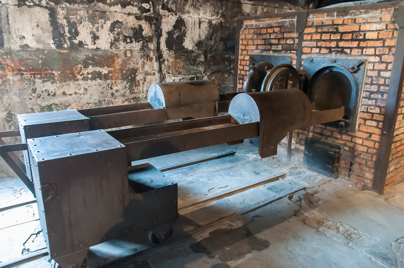 The crematorium at Auschwitz Birkenau in Krakow, Poland