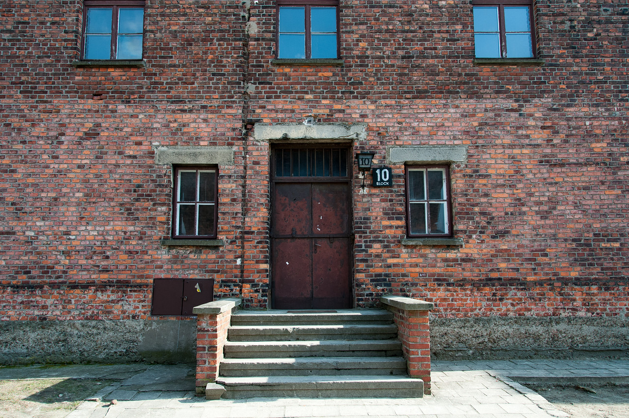 Building in Block 10 of Auschwitz Birkenau in Poland