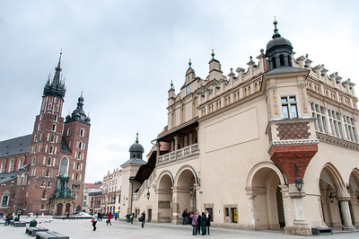 St. Mary's Church next to Krakow Cloth Hall - Krakow, Poland