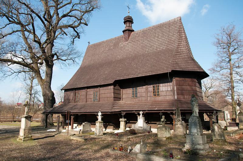 Grave site outside Saint Leonard Church in Lipnica Murowana - Poland