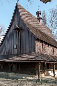 Shot of the Saint Leonard Church in Lipnica Murowana in Poland