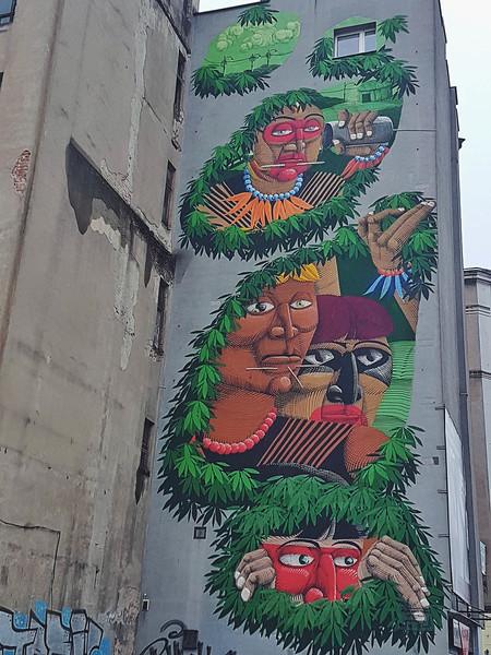 Nunca mural in Lodz, Poland
