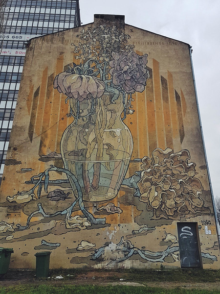 Aryz mural in Lodz, Poland