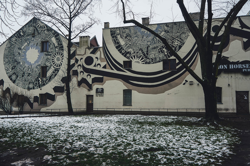 M-City street art in Lodz, Poland