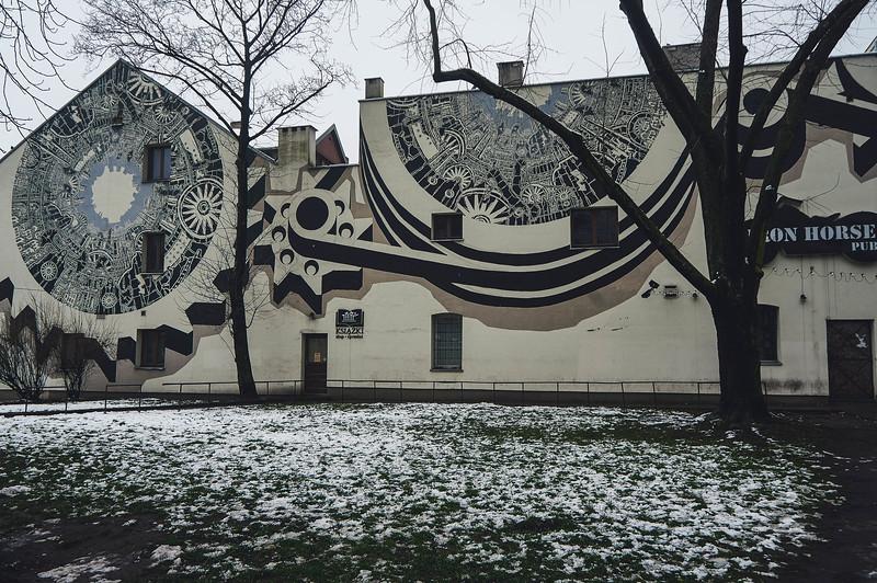 M-City street art in Lodz, Poland