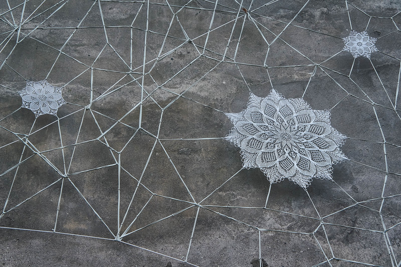 NeSpoon lace art in Lodz, Poland