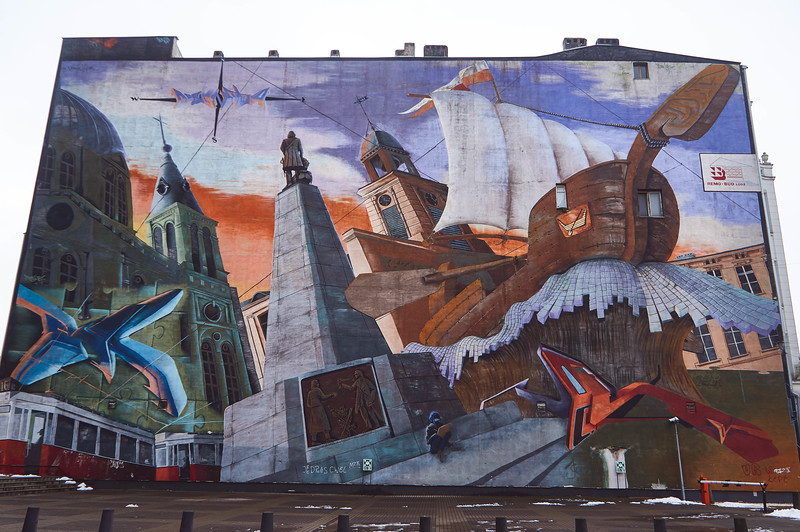 Bary & Meisal mural in Lodz, Poland