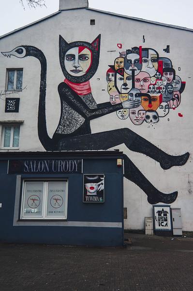 Raspazjan street art in Lodz, Poland